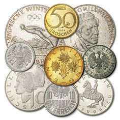 ERROR ! Austria 1964 9 coin Proof Set- 9 shield 25 Schilling Coin- Mintage of only 3,660 25 Schilling Coins with 9 Shield Reverse - ** Want to know more, click on the image.