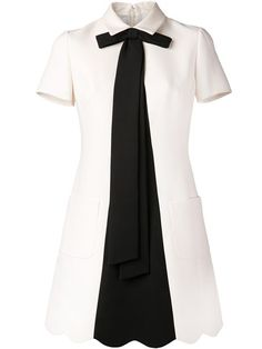 Shop Valentino tie neck dress in Luisa World from the world's best independent boutiques at farfetch.com. Over 1000 designers from 60 boutiques in one website.