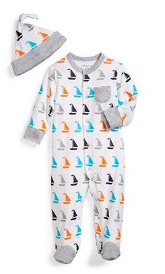 sailboats overall + hat