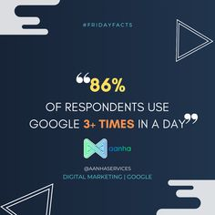 How often do you use google search? . . . #fridayfacts #fridaythoughts #fridayfeels #aanhaservices #aanha #digitalmarketing #didyouknow #google #googlestats #googlesearch #aanhadm Friday Facts, Use Google, Did You Know, Digital Marketing, Thoughts, Feelings, Google Search, Ideas