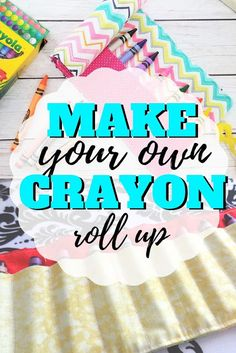 Learn to make your own crayon roll with this free sewing pattern and step by step photo tutorial and video Sewing Patterns For Kids, Easy Sewing Projects, Sewing Projects For Beginners, Sewing For Kids, Free Sewing, Sewing Hacks, Sewing Tutorials, Sewing Ideas, Sewing Tips
