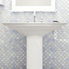 Somertile 12 375x12 5 Inch Antaeus Frost Blue Porcelain Mosaic Floor And Wall Tile