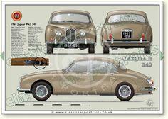 Jaguar S-type classic sports saloon portrait print Jaguar Type, Jaguar Xj, Jaguar Cars, Classic Cars British, Best Classic Cars, Jaguar Daimler, Saloon, Best Muscle Cars, E Type