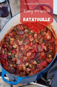 Ratatouille Here is how to make the perfect ratatouille, the iconic mediterranean vegetable stew, a traditional homecooking dish the French love to cook in summer. Recipe from My Parisian Kitchen - Fr Beef Bourguignon, Kitchen Recipes, Cooking Recipes, Healthy Recipes, French Food Recipes, Veg Recipes, Summer Recipes, Healthy Food, French Ratatouille Recipe