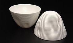 Contour Cups by Tavs Jørgensen Danish Design, Artist At Work, Ceramic Art, 3d Printing, Digital Art, Objects, Cad Cam, Ceramics, Contour