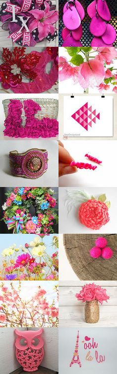 Haute Pink by Sarah and Eddie Gumbrecht on Etsy--Pinned with TreasuryPin.com Lovely collection! Thanks so much! #Etsyvintage #Estyhandmade #freshfinds