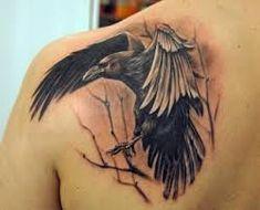 Crow Tattoo Ideas - the BEST 100 Crow Tattoos on Planet Earth - Tattoo-Ideen - Creepy Tattoos, Dope Tattoos, Body Art Tattoos, Tattoos For Guys, Crow Tattoos, Tatoos, Deer Tattoo, Tattoo Ink, Hand Tattoos