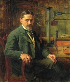 Portrait of Mihalo Pupin, 1903 by Paja Jovanović ( Vršac 1859 – Vienna 1957)..... Pupin (1858-1935) was a Serbian American physicist and physical chemist....a founding member of National Advisory Committee for Aeronautics (NACA) on March 3, 1915, which later became NASA....