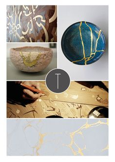Japanese + Italian vibes - combining the most fascinating Japanese repair technique, the art of Kintsugi ('to patch with gold') and the renowned Italian artistic handicrafts, a new project is borning.