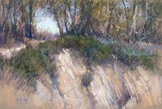 """""""Pastel Pointers   When Memory Gets in the Way""""  Cliffs of Goleta (pastel, 12×18) by Richard McKinley ^ch #pastel #painting #art"""