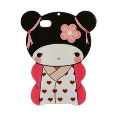 PINK JAPANESE FLOWER DOLL IPHONE 4/4S ($20) ❤ liked on Polyvore featuring accessories, tech accessories, iphone cases, iphone cover case, pink iphone case, apple iphone case and flower iphone case