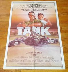 Tank ('84) One Sheet Movie Poster C. Thomas Howell James Garner Shirley Jones