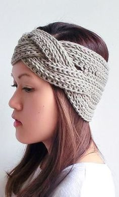 Braided Crochet Headband--perfect for the early winter cold