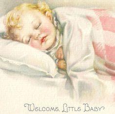 Victorian Illustration BABY * Farini | Our Cottage Garden