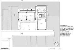Image 22 of 30 from gallery of Uramita Educational Park / FP arquitectura. First Floor Plan School Plan, Learning Environments, Floor Plans, Diagram, How To Plan, Education, Park, Gallery, Parks