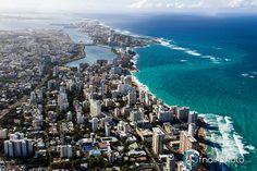 San Juan, Puerto Rico skyline aerial view