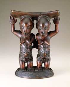 Headrest, Master of Mulongo, Luba peoples Democratic Republic of the Congo, Mid-late 19th century - Wood, oil - National Museum of African Art