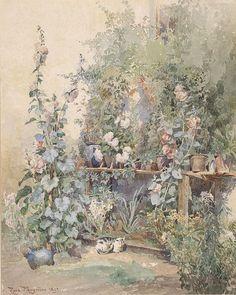 File:Rosa Mayreder Gartenstilllben mit Kätzchen 1891.jpg