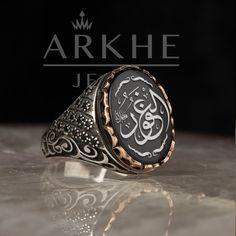 el-Gafûr Yazılı Erkek Yüzük - Arkhe Jewel Diamond Jewelry, Rings For Men, Diamond Jewellery, Men Rings