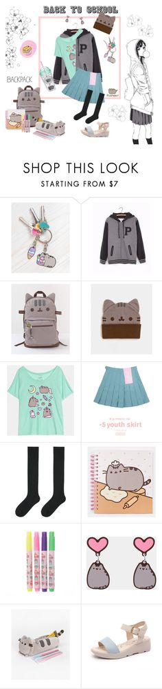 """""""#PVxPusheen"""" by jasmina95 ❤ liked on Polyvore featuring Pusheen, chuu, Uniqlo, contestentry and PVxPusheen"""