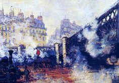 Claude Monet - The Saint-Lazare Station, 1877