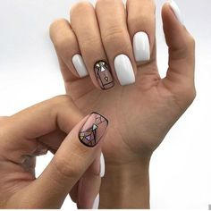 85 Fabulous Spring Square Nail Designs To Make You Shine - Page 16 of 85 - Chic Hostess Gorgeous Nails, Love Nails, Fun Nails, Square Nail Designs, Best Nail Art Designs, Stylish Nails, Trendy Nails, Beauty And More, Plain Nails