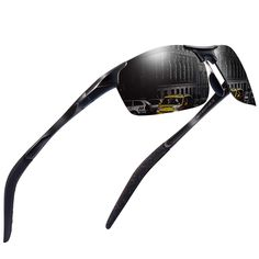 00979f65e7eb7 Sports Polarized Sunglasses for Men - Feirdio Mens Sports Glasses Metal  Frame Driving sunglasses 2266