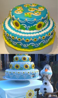 Frozen Fever - Real Cakes ;-)Made by my sister.What do you think? - Sebastian Mühlich via Google+ on Feb 28, 2015