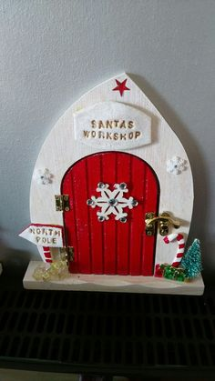 My take on a Christmas fairy door for my elf on the shelf.