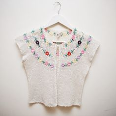 Crochet top with flowers