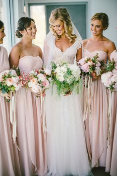 Bridesmaids Photos and Ideas - Style Me Pretty Weddings - Picture - 1396176