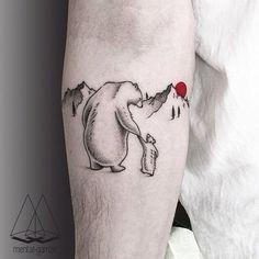 polar bears tattoo on arm