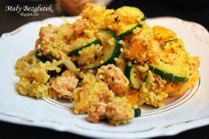 Mały Bezglutek: Jaglany Styczeń 2014 Risotto, Healthy Recipes, Healthy Food, Zucchini, Clean Eating, Tasty, Lunch, Snacks, Chicken