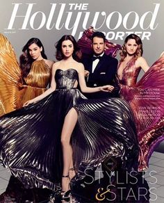 WEBSTA @ lilyjcollins - We woke up like this. Thanks to our dream team @robzangardi and @marielwashere and @hollywoodreporter. What an absolute honor to stand beside you guys! I feel so unbelievably lucky and thankful to have you in my life. Congratulations!...