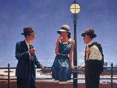 """Game of Life"" huile sur toile de Jack Vettriano (Jack Hoggan 1951) peintre écossais. Son site : http://www.jackvettriano.com/"