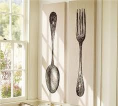 Charming Crafty Butt: Pottery Barn Knock Off Spoon U0026 Fork Wall Art Dunning Room
