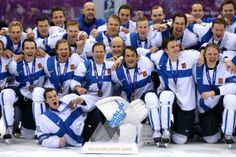 Bronze medalists Finland celebrate after defeating the United States during the Men's Ice Hockey Bronze Medal Game on Day 15 of the 2014 Sochi Winter Olympics at Bolshoy Ice Dome on February Get premium, high resolution news photos at Getty Images Olympic Hockey, Ice Hockey, Olympic Games, Finland Culture, Olympic Committee, Winter Games, National Hockey League, Summer Olympics, Hockey Players