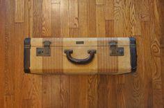 Vintage 1940s Tweed Suitcase by Aero Pak Deluxe by AllyandOllie, $65.00