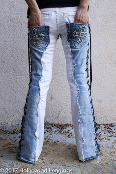 Diy Jeans, Recycle Jeans, Jeans Denim, Jeans Marron, Vetement Hip Hop, Brown Denim Jacket, Blue Denim, Jean Diy, Jean Vintage