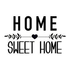 Aufkleber Home Sweet Home  Delphine 1 FIL A LA PATTE