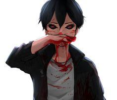Tokyo Ghoul Bloody anime boy guro