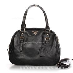 Prada Leather Handbag - Black