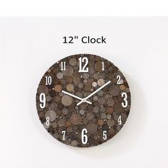 Rustic Wood Wall Clock Unique Home Decor Farmhouse Style