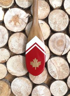 Items similar to Canada mini paddle, 24 inch canoe paddle, painted canoe paddle, decorative oar, Canadian made red and white paddle on Etsy Painted Oars, Oar Decor, Coastal Decor, Old Town Canoe, Wooden Canoe, Inflatable Kayak, Canoe And Kayak, Canoe Paddles, Kayaking