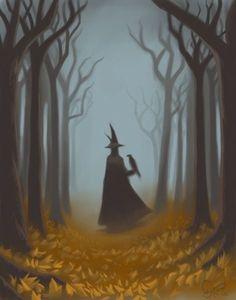 Halloween stroll through the forest dibujos brujas Samhain Halloween, Theme Halloween, Halloween Pictures, Holidays Halloween, Halloween Crafts, Happy Halloween, Vintage Witch, Vintage Halloween, Halloween Chat Noir