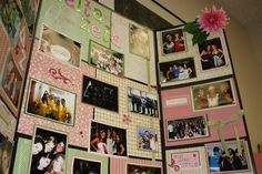 scrapbook pages for recruitment boards! such a cute idea