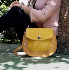 Saddle Bag / Leather Crossbody Bag / Leather Saddle Bag /