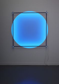 Magic Circle meets Square, 2012, Fluo acrylic paint, blacklight tubes by Christian Herdeg