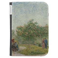 Garden in Montmartre with Lovers by Van Gogh Kindle 3 Cases