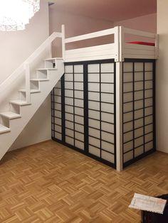 bild 27 hochbett hochetage in wei mit individuellem gel nder zzzzz pinterest gel nder. Black Bedroom Furniture Sets. Home Design Ideas